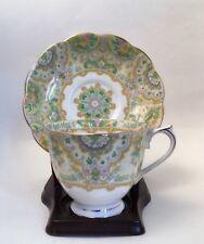 Royal Albert Bone China Teacup & Saucer Paisley Shawl Rare Pattern W/Display IMP