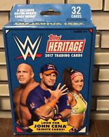 2017 Topps Heritage WWE Wrestling Cards Factory Sealed Hanger Box 32 Cards
