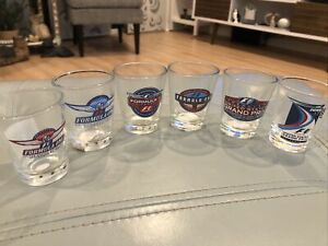 6 Vintage Formula One Collectible Shot Glass 2000 to 2007 United States GP (ca)