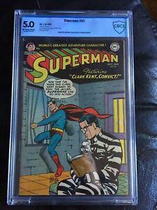 SUPERMAN #83 CBCS VG/FN 5.0; OW-W; Wayne Boring-a!