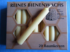40 Baumkerzen 100 Bienenwachs 100x13mm Imkerei (st. 0 )