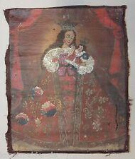 18. Siècle Tableau sur la toile Pèlerinage Madonna Photo de grace Madone dans