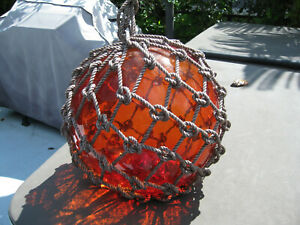 Japanese Glass Fish Floats -Amber- Large