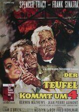 Frank Sinatra Spencer Tracy DER TEUFEL KOMMT UM 4 EA-Filmplakat A1 gefaltet 1961