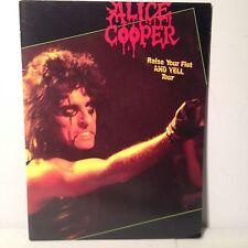 1987 Alice Cooper Raise Your Fist Yell Live Flesh Tour Horror Rock Program Book