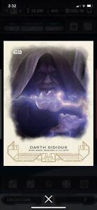 Topps Star Wars Digital Card Trader Galactic Heritage ROTS Darth Sidious Award