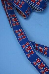 """4 yards vtg 70's red white blue Trim  CATS dog 3/4"""" Wide"""