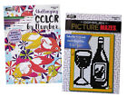 Picture Mazes  Color By Number Book Kids Adults Activity Books Set of 2 NEW