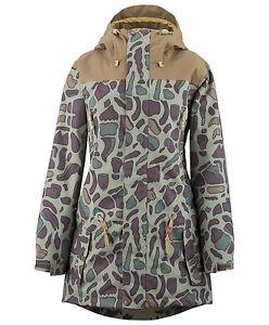 NWOT WOMENS AIRBLASTER LADY STORM CLOAK SNOWBOARD JACKET $260 M camelflage