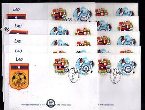 // LAOS 2004 - 10 FDC - SPORTS - SOCCER
