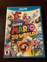 Super Mario 3D World (Wii U, 2013) Complete With Manual