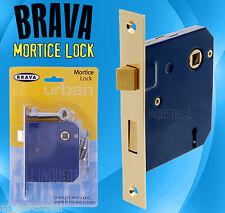 ANTIQUE DOOR MORTISE LOCK SET ( Polished Brass )