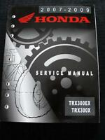2007 2008 2009 HONDA TRX300EX TRX300X ATV ALL TERRAIN VEHICLE SERVICE MANUAL