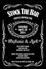 Wedding Couples Stock the Bar Shower Invitation Any Color Jack