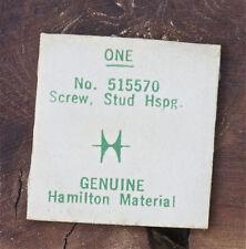 Vintage Hamilton watch 721 911 911M stud hairspring screw Hamilton part 515570