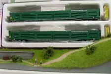 Heris 16098 auto carro de transporte 2 juego de Renfe verde Ho