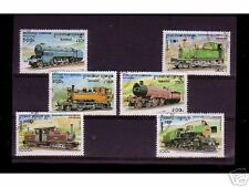 0818++CAMBODGE   SERIE TIMBRES TRAINS  N°2