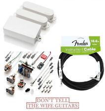EMG SA SA 85 WHITE STRAT PICKUP SET ( FREE FENDER 18FT CABLE ) Stratocaster