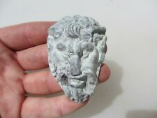 Antique Lead Mould Cast Casting Plate Old Mold Mythical Horned Man Deity God