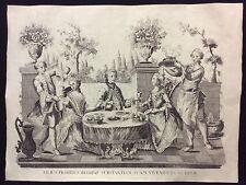 Italia Restaurant Hôtel salle à manger Grande estampe Vivendo luxuriose C 1750