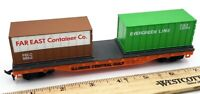 Life-Like Trains HO Scale Illinois Central Gulf Flat Car w/Container #8441