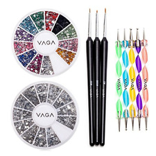 Nail Art Supplies Acrylic Nail Kit With 5 Nail Dotting Tools Nail Art Brushes