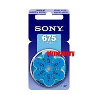 Sony 675 PR44 ZA675 AC675 Hearing Aid Batteries Zinc Air 1.4V 6pc/pack PR675-D6A