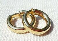 Christian Dior Vintage Ohrclips Creolen Clips Ringe vergoldeter Ohrschmuck