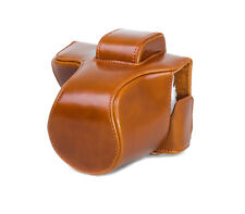Camera Case Case for Olympus E-M10 Mark II Faux Leather Bag Brown CC1376c