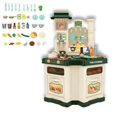 Kids Kitchen Play Set Pretend Baker Toy Cooking Playset Girls Food Gift Present