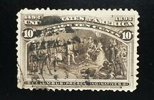 U.S. 1893 10c Columbian Commemorative: Presenting Natives Scott #237 Used