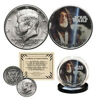OBI-WAN KENOBI - STAR WARS Genuine 1977 JFK Kennedy Half Dollar US Coin LICENSED