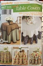 "Simplicity Home Decorating pattern 5467 easy Table Covers  20"",30"" Round Table"