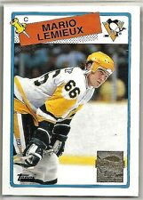 Mario Lemieux 2000-01 Topps Pittsburg Penguins 1988-89 Reprint Hockey Card