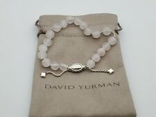 David Yurman Spiritual Bead Bracelet Sterling Silver with Pink Quartz 8mm