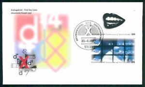 GERMANY FDC 1997 documenta Kassel ART TOM WESSELMANN NAM JUNE PAIK h4721