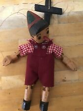 """Vintage Hand Carved Pinocchio Marionette Puppet 23""""-Collectors Item-Toys-Gifft"""