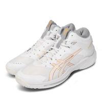 Asics Gelburst 24 2E Wide White Gold High Top Mens Basketball Shoes 1063A014-100
