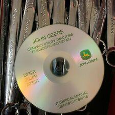 John Deere 2032R 2036R 2038R Compact Tractors Service Repair Manual Tm143919 Cd