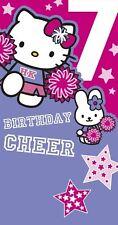 Hello Kitty Age 7 Birthday Cheer - Birthday card