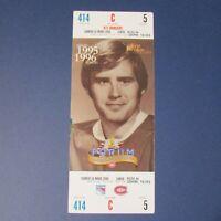 1995-96  KEN DRYDEN Montreal Canadiens 1996 Photo Ticket Forum 1971-1979 Rangers