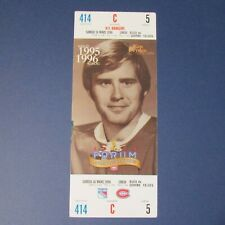 1995-96  KEN DRYDEN Montreal Canadiens 1996 Photo Ticket Forum 1971-1979 Rangers