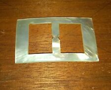 Vintage Rectangular  Mother of Pearl Buckle  70 x 41 mm