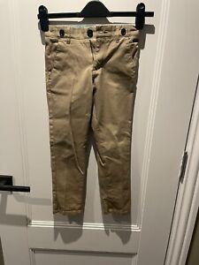 Boy's Summer Smart Beige Trousers - Age 6 (worn once)