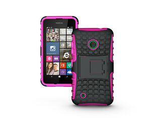 Shockproof Rugged Dual Slim Armor Defender Nokia Lumia 530 Kick Stand Case Cover