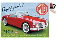 MG MGA Safety Fast Metal Wall Art Sign Plaque - New
