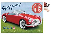 MG MGA Safety Fast Metal Wall Art Sign Plaque - New