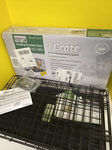 """MIDWEST I-1522DD Dog Double Door i-Crate Black 22"""" x 13"""" x 16"""""""