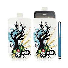 Housse coque étui pochette pour HTC One S avec motif HF03 + Stylet luxe