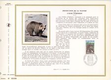 DOCUMENT PHILATELIQUE ANDORRE / CEF / FAUNE / L'OURS PYRENEEN